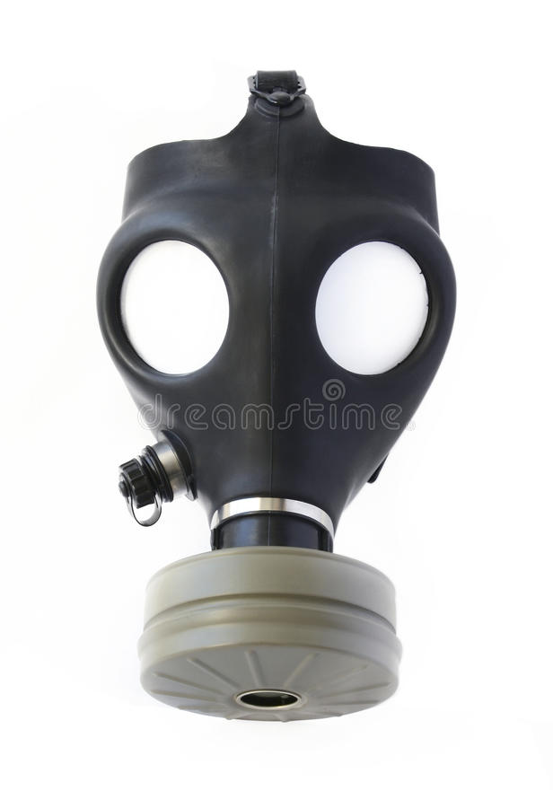 Masque de gaz photo libre de droits