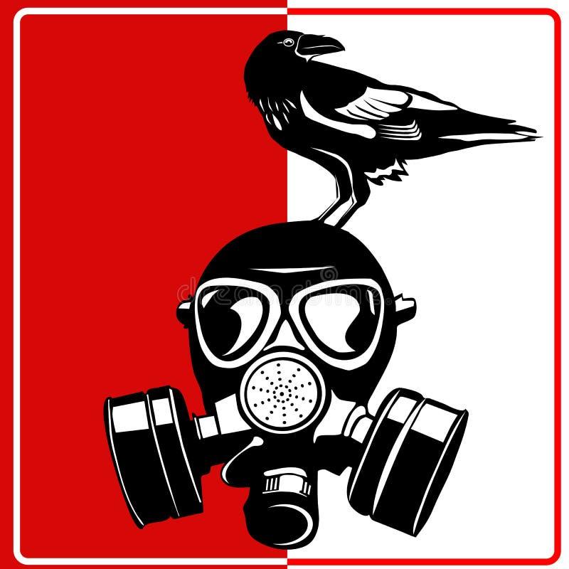 Masque de gaz - bio risque industriel illustration libre de droits