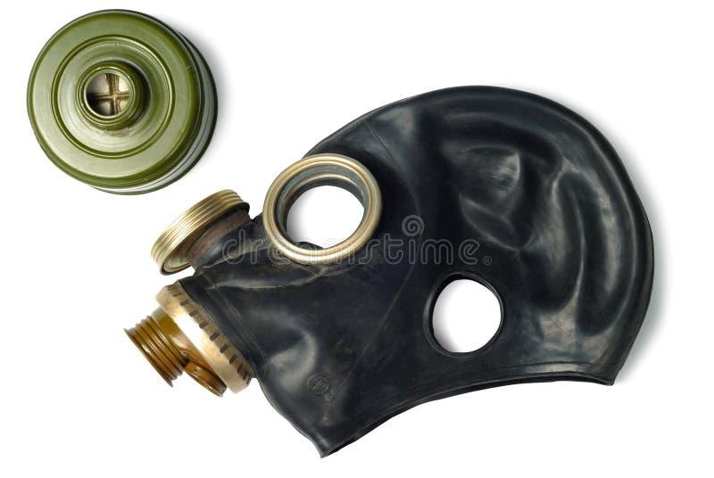 Masque de gaz démonté image stock