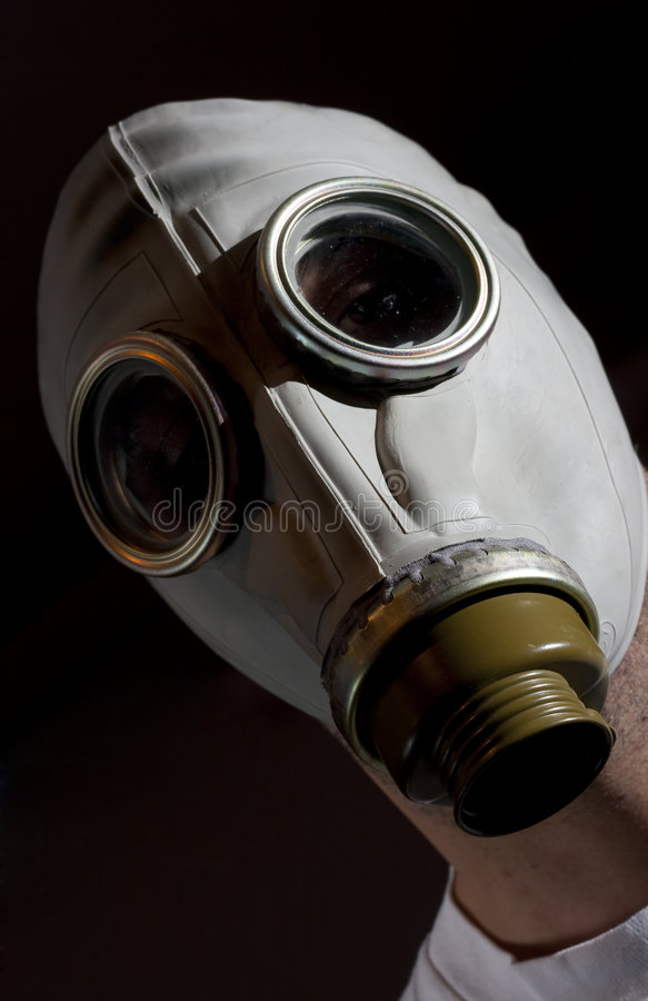 masque de gaz de danger image stock