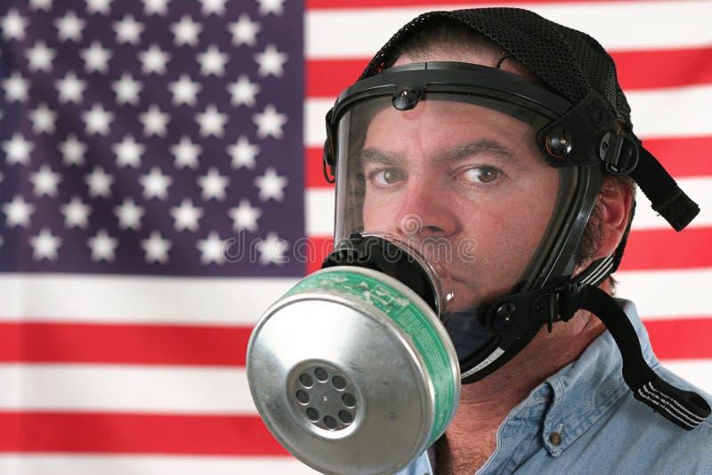 Masque de gaz horizontal photographie stock libre de droits