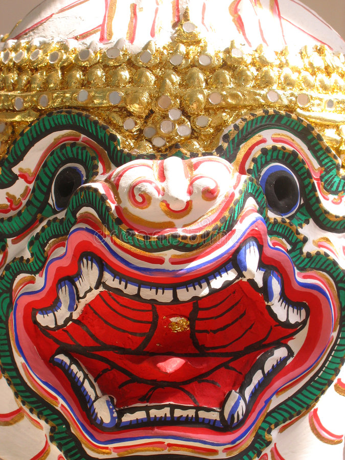 Masque de Hanuman de Thaïlande photographie stock libre de droits