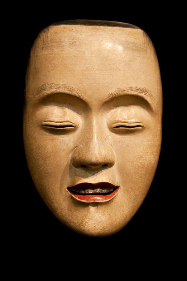 Masque de Ko-Kasshiki (jeune domestique) Noh photos libres de droits