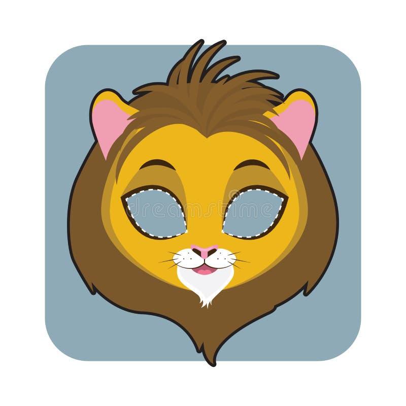 Masque de lion pour des festivités illustration de vecteur