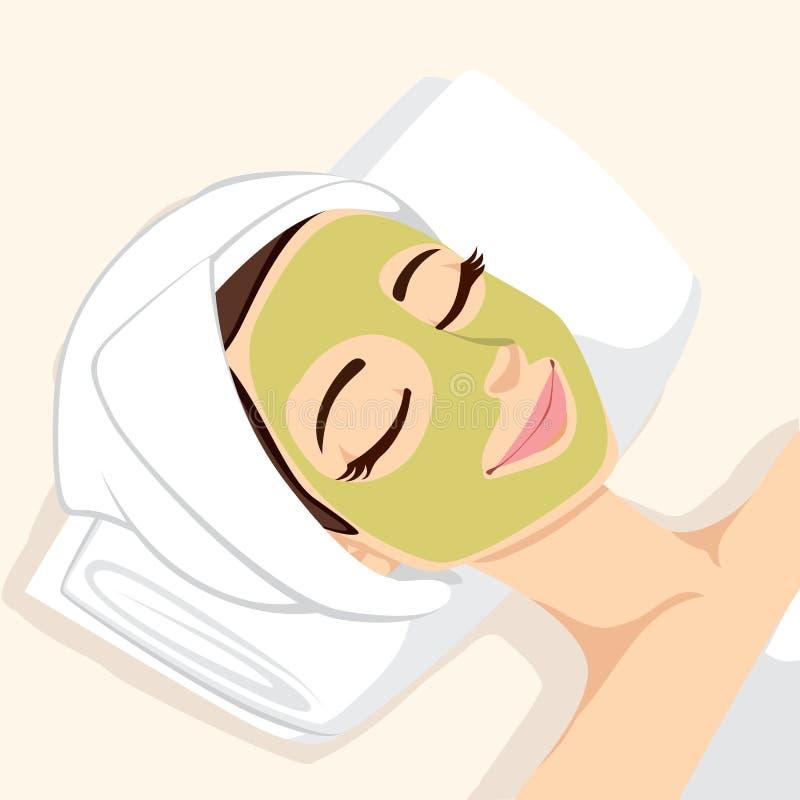 Masque de massage facial de traitement d'acné illustration libre de droits