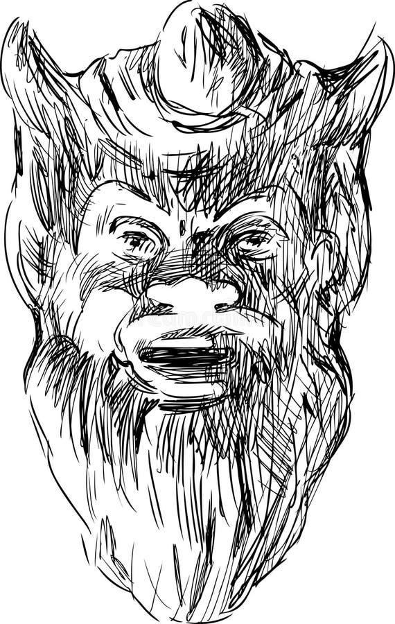 Masque de mythologie illustration libre de droits