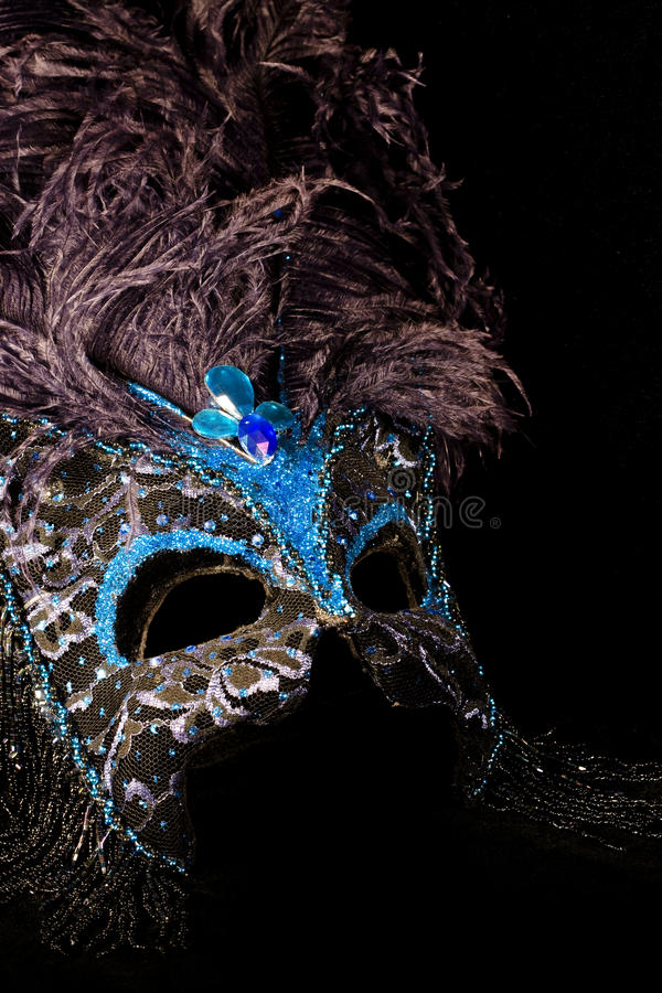 Masque de noir bleu photos stock