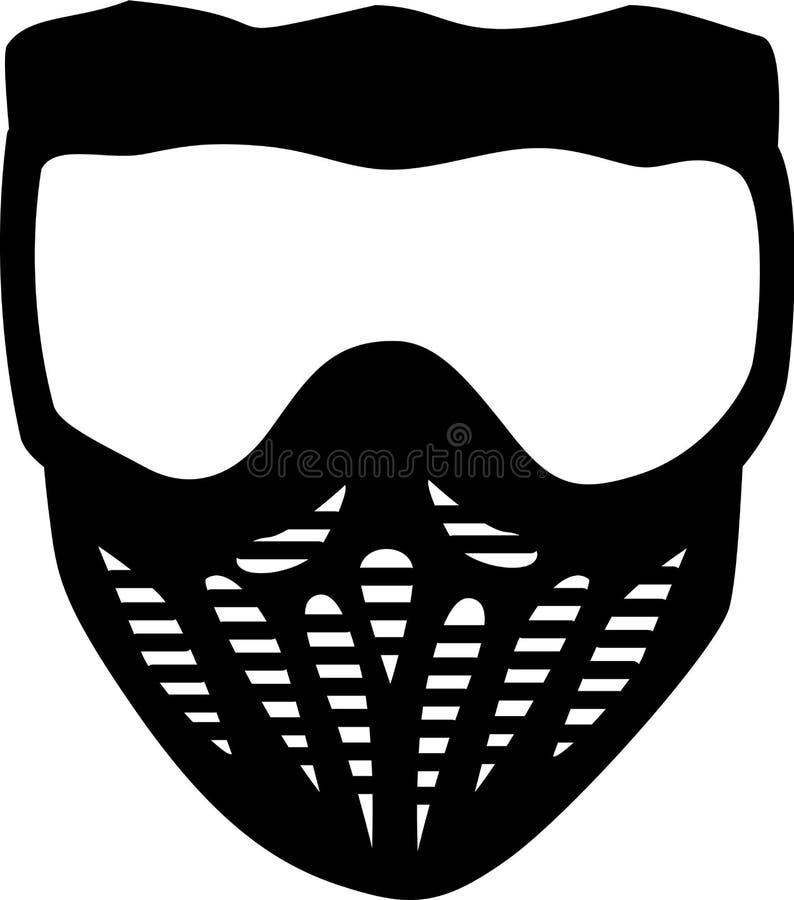 Masque de Paintball illustration de vecteur