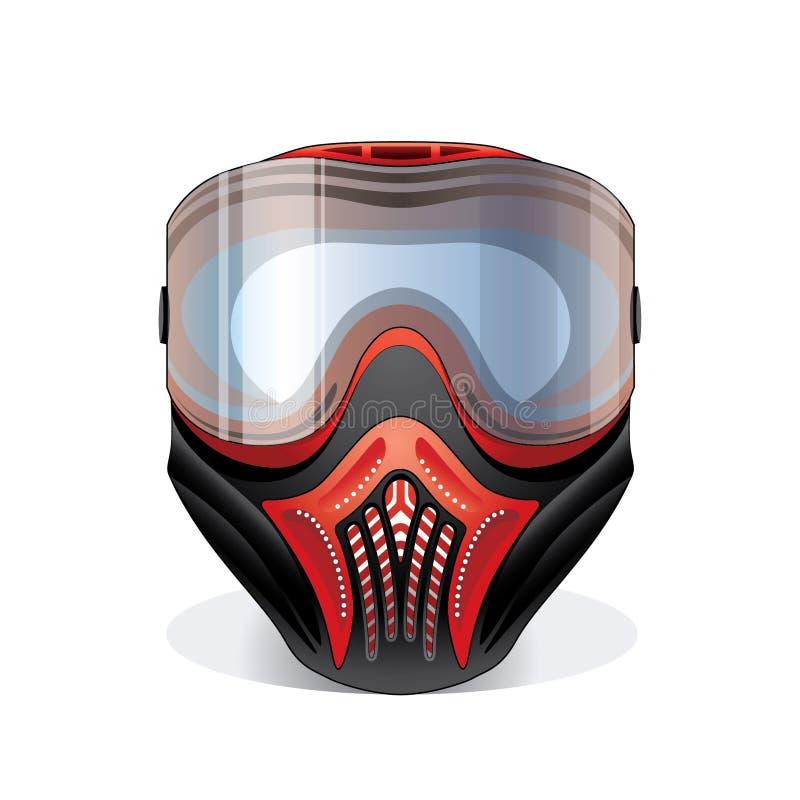 Masque de Paintball illustration stock