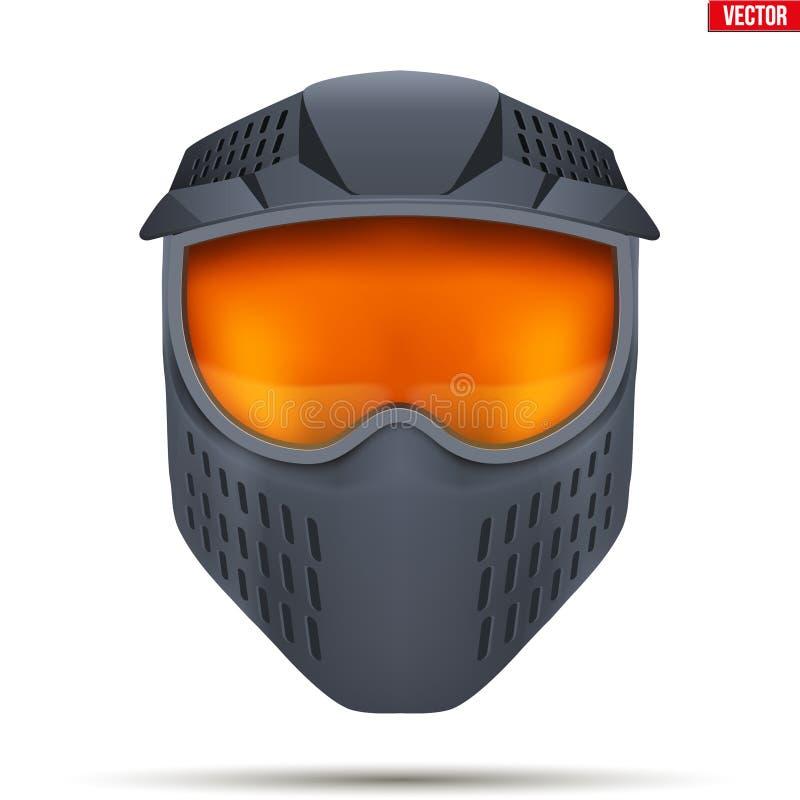 Masque de Paintball avec des lunettes illustration de vecteur