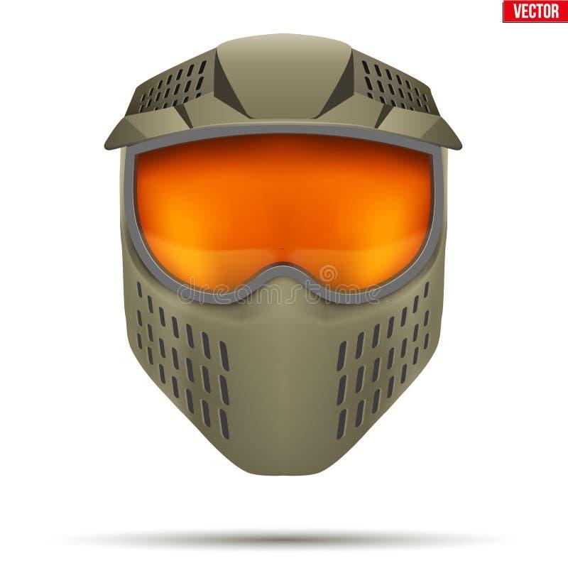 Masque de Paintball avec des lunettes illustration libre de droits
