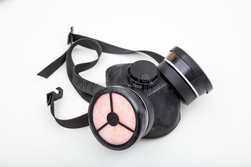 Masque de protection respiratoire sur le fond blanc image libre de droits