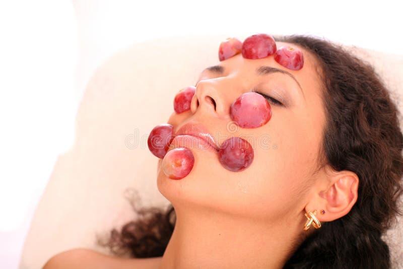 Masque de raisin rouge photographie stock