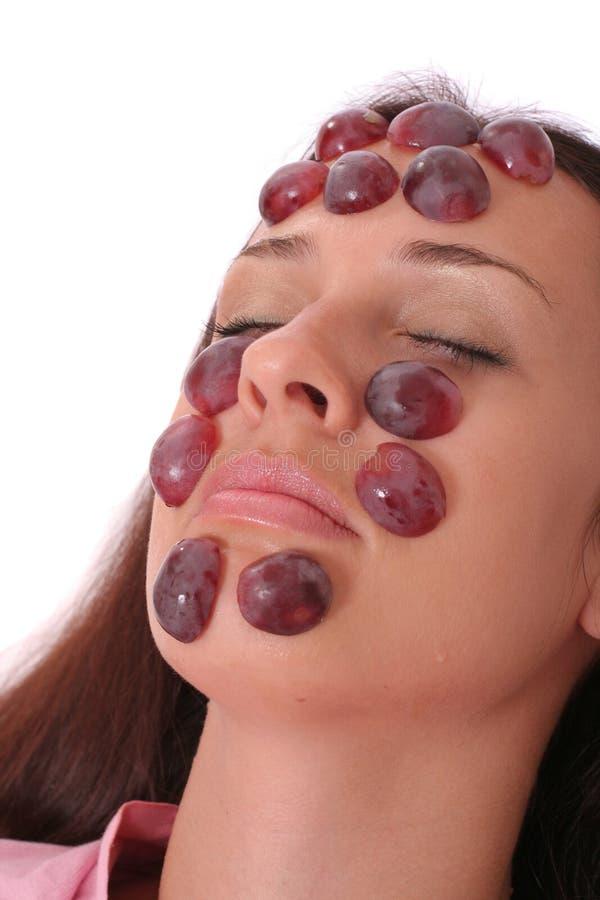 Masque de raisins photographie stock libre de droits