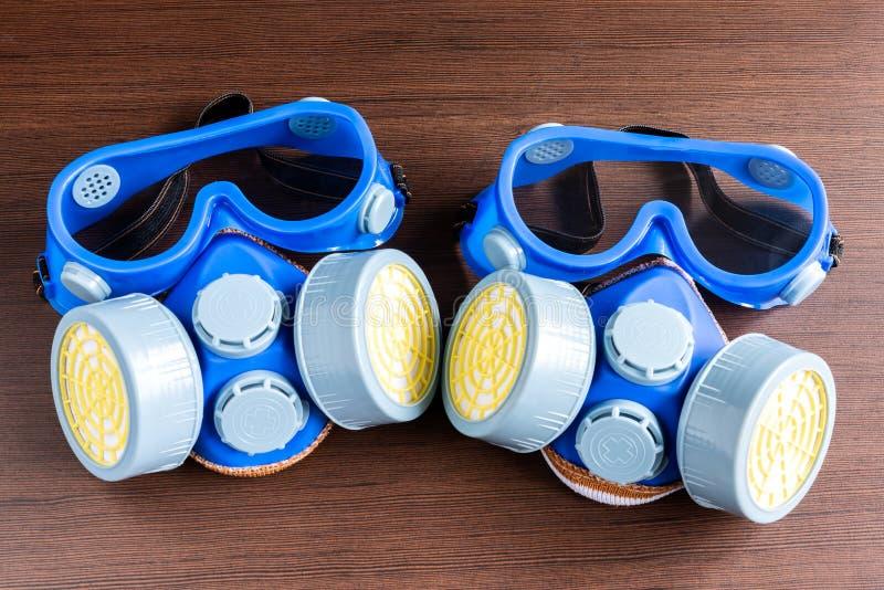 Masque de respirateur, masque de poussière et masque de sécurité pour l'industr chimique photographie stock
