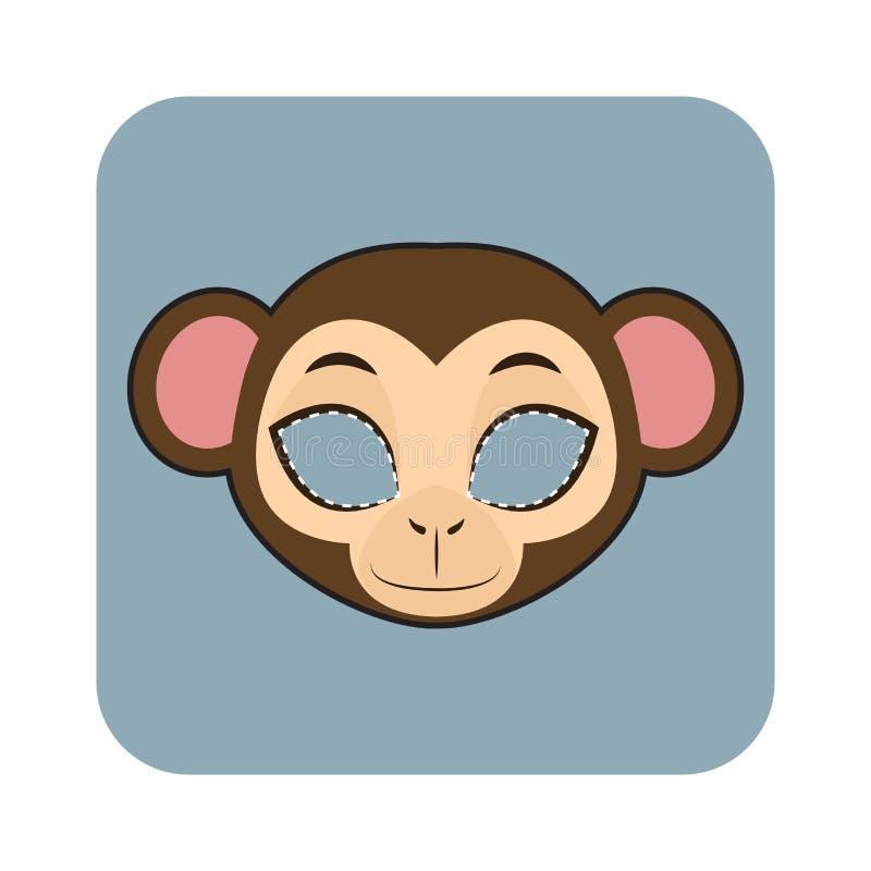 Masque de singe pour des festivités illustration libre de droits