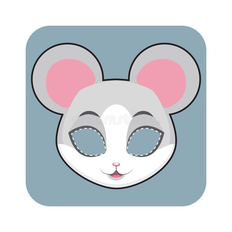 Masque de souris illustration libre de droits