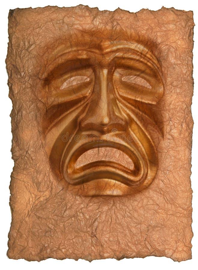 Masque de theatrical de tragédie images stock
