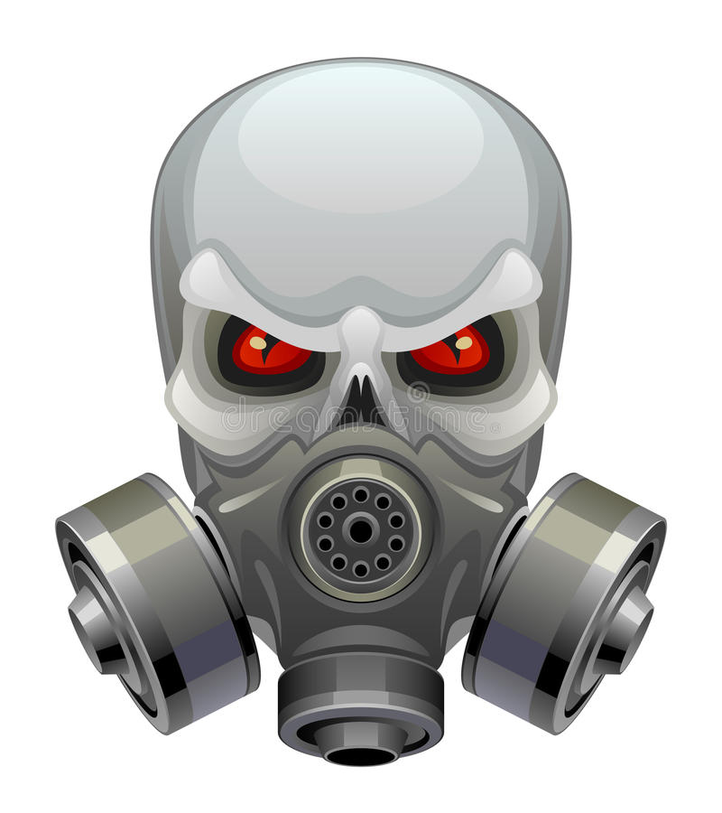 Masque de toxique de crâne illustration libre de droits