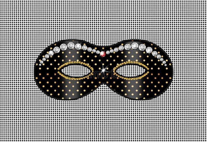 Masque, diamant illustration libre de droits