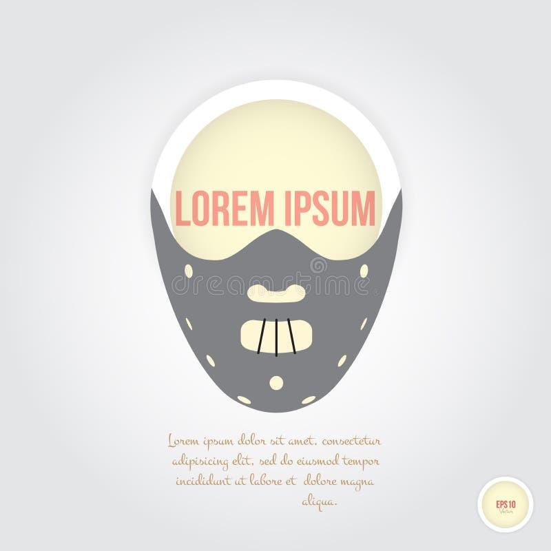 Masque effrayant illustration stock