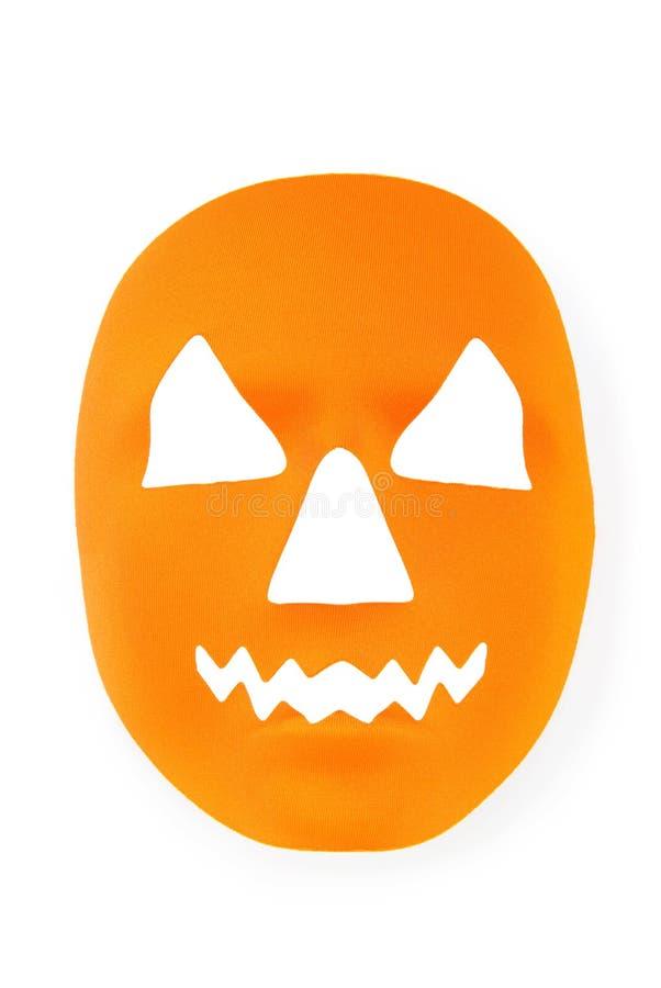 Masque effrayant orange de veille de la toussaint image stock