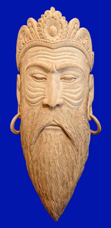 Masque en bois masculin images libres de droits