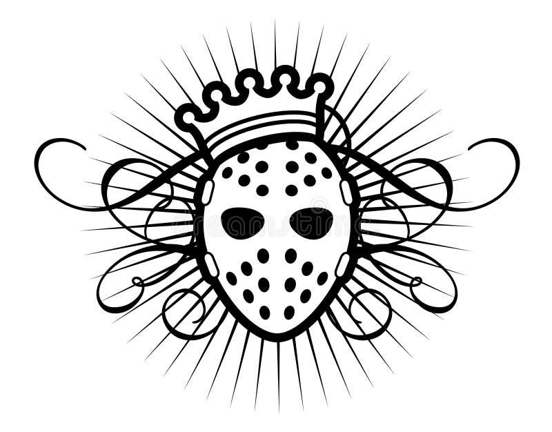 Masque et tête illustration libre de droits