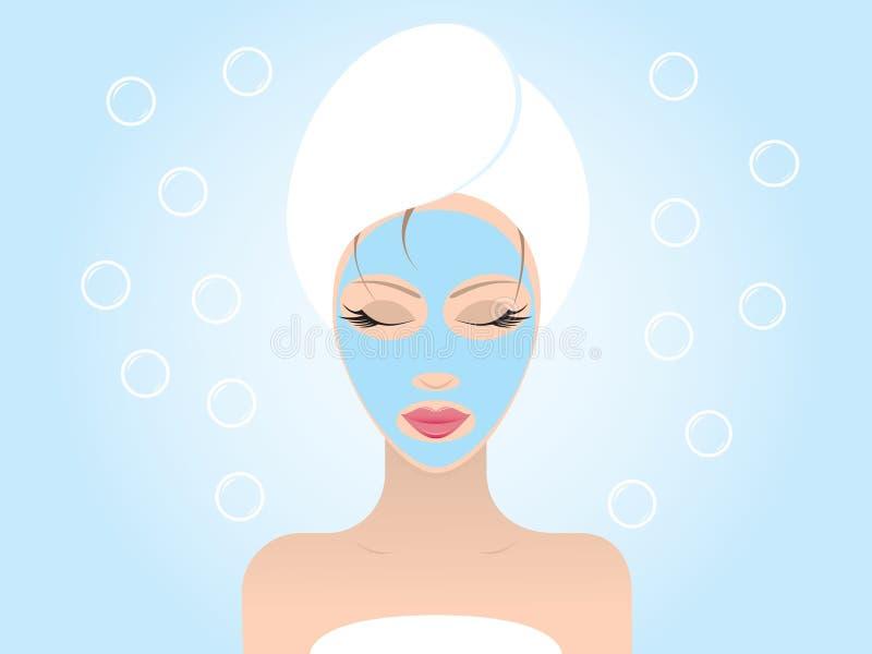 masque facial illustration stock