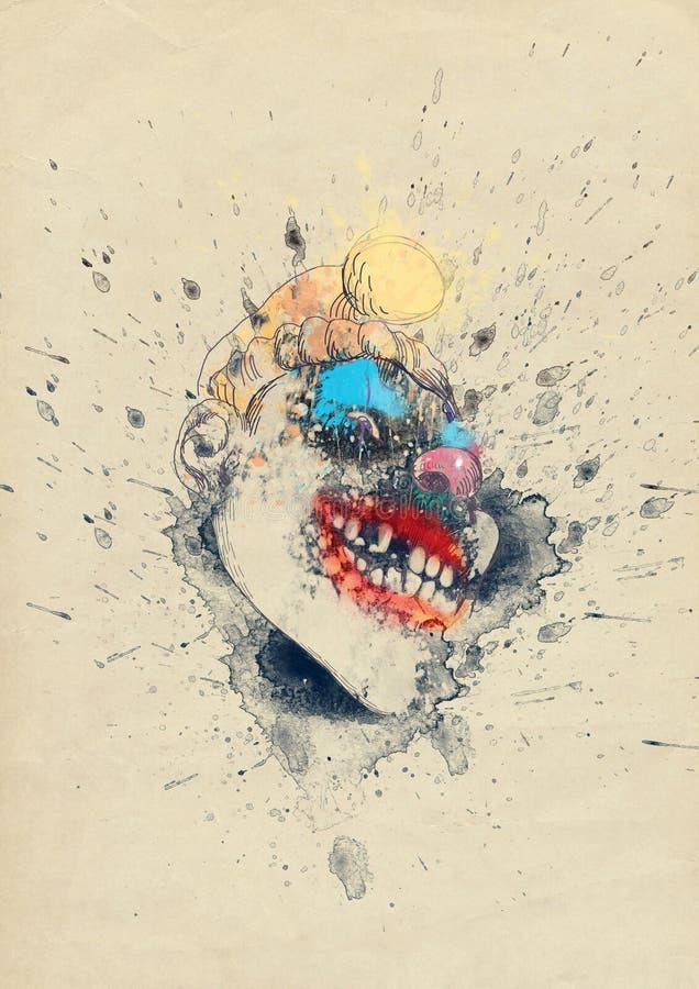 Masque fantasmagorique illustration libre de droits