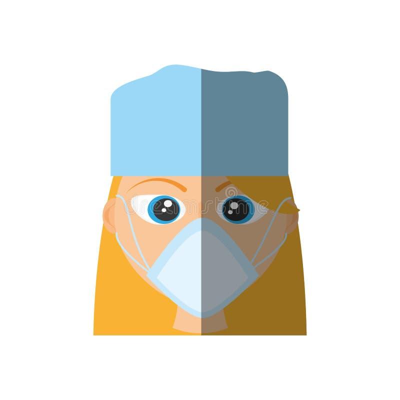 masque femelle de docteur médical illustration libre de droits