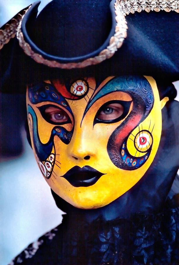 Masque jaune photo stock
