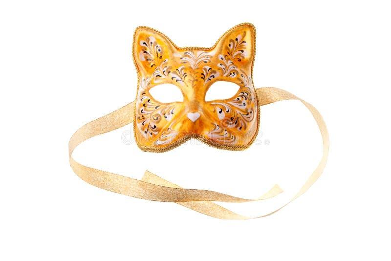 Masque orange photographie stock libre de droits