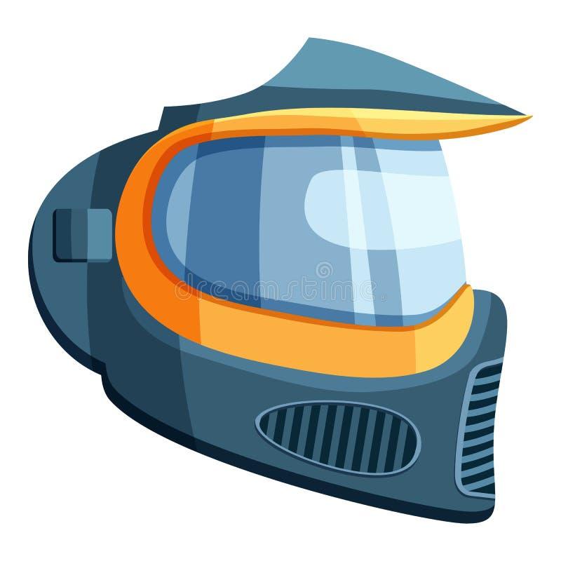 Masque pour l'icône de paintball, style de bande dessinée illustration libre de droits