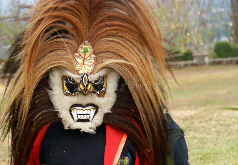 Masque pour la danse de Jathilan images libres de droits