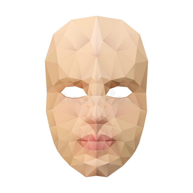Masque protecteur polygonal illustration stock