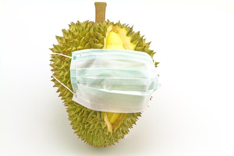 Masque puant d'usage de durian photo libre de droits