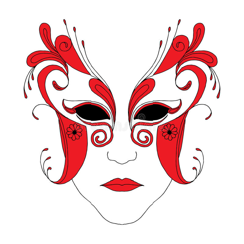 Download Masque stock vector. Illustration of artistic, funny - 34222012