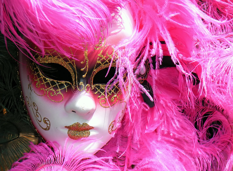 Masque rose photographie stock