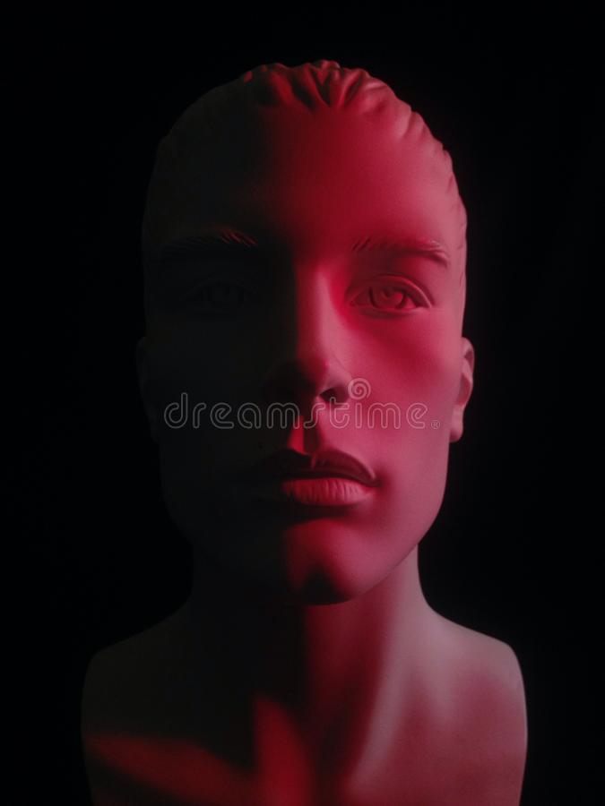 Masque rouge photographie stock