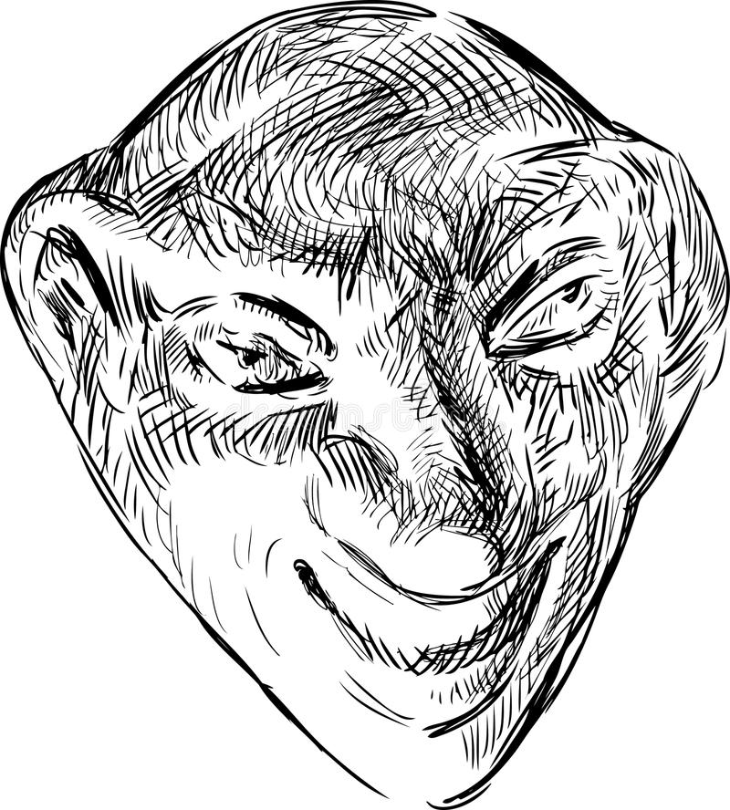 Masque théâtral illustration stock