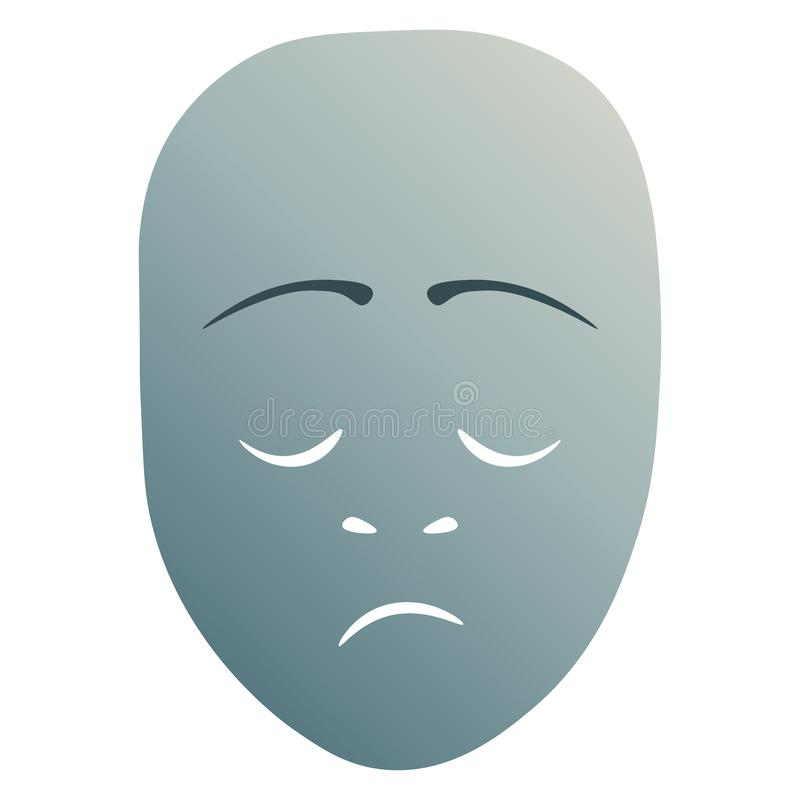 Masque théâtral morne illustration libre de droits