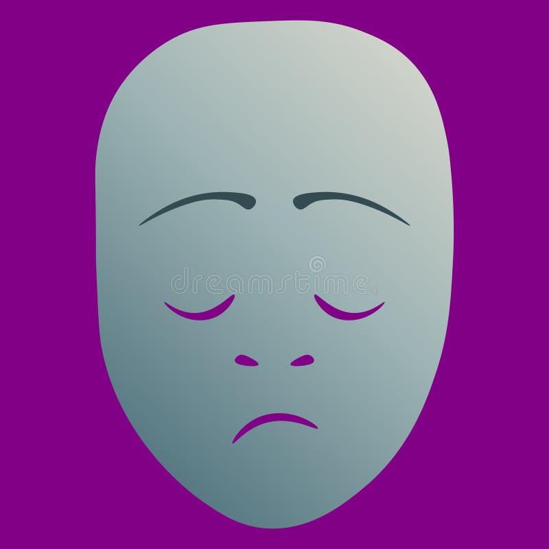 Masque th??tral morne illustration libre de droits