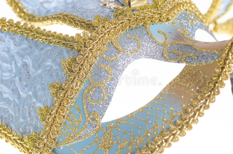 Masque vénitien bleu de carnaval photo libre de droits