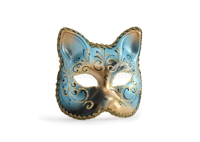 Masque vénitien de chat photographie stock libre de droits