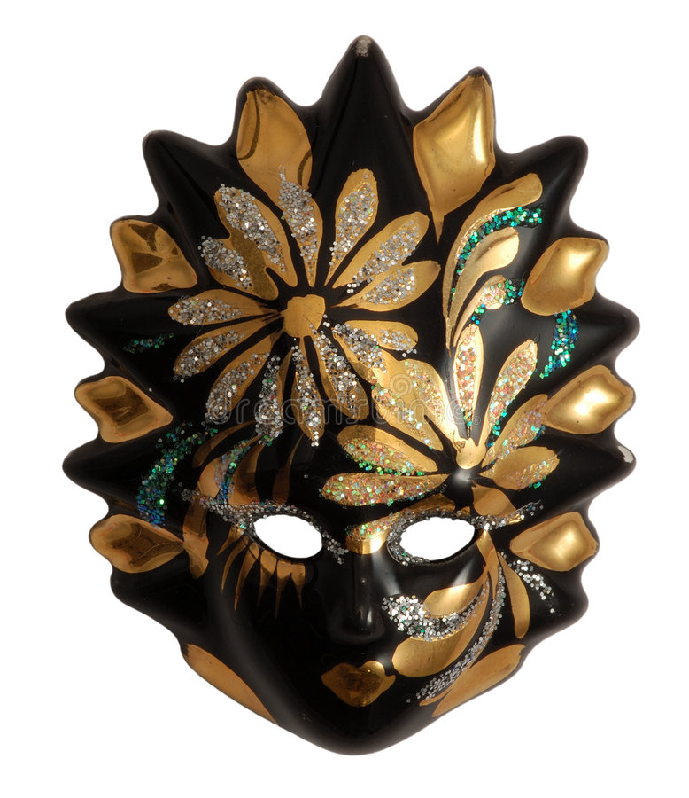 Masque vénitien merveilleux images libres de droits