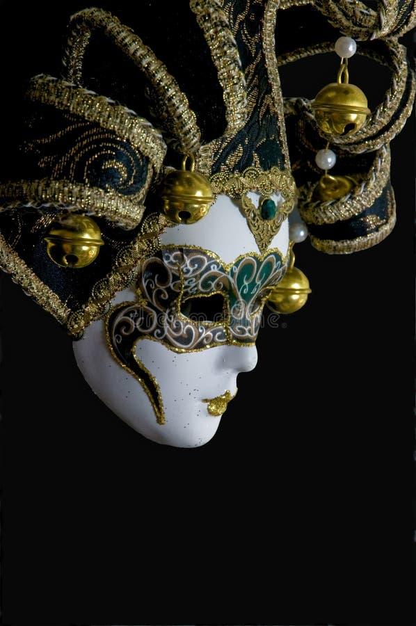 Masque vénitien mystérieux image libre de droits