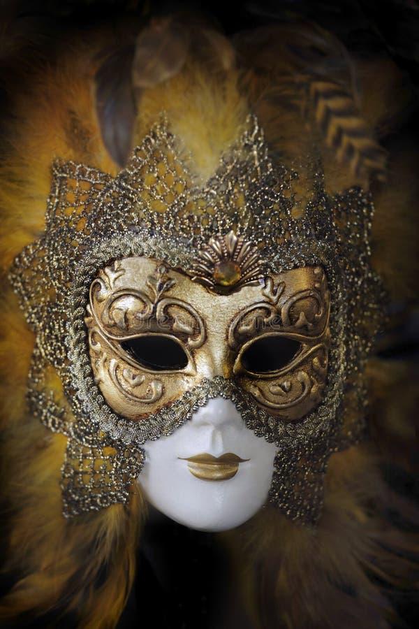 Masque vénitien traditionnel de carnaval. Venise, Italie photographie stock libre de droits