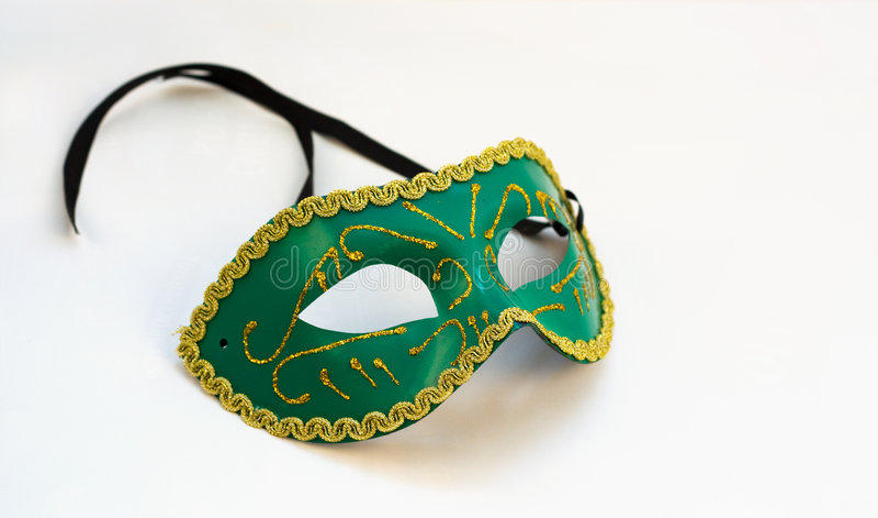 masque vert image stock