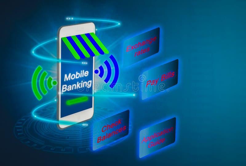 Masquer mobile futuriste pour l'avenir, exploit avancé de smartphones photos stock